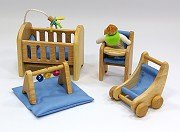 娃娃屋配件:嬰兒床組 S543C(絕版商品)