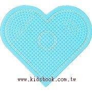大透明愛心形板:小拼豆模板