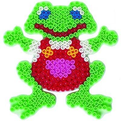內頁放大:青蛙造型模板:小拼豆模板