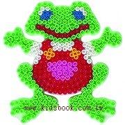 青蛙造型模板:小拼豆模板
