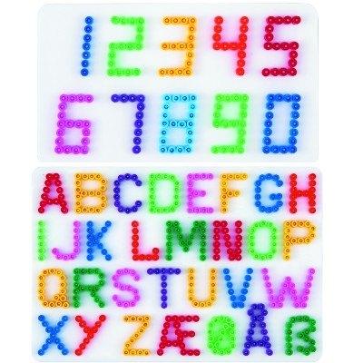 內頁放大:白色ABC+123數字模板:小拼豆模板