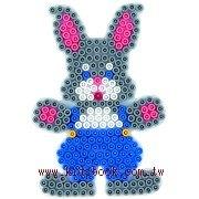 兔子造型模板:小拼豆模板