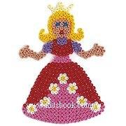 公主造型模板:小拼豆模板