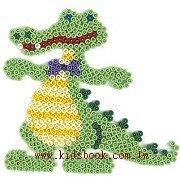 鱷魚造型模板:小拼豆模板
