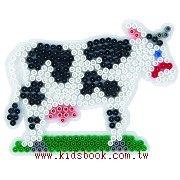 牛造型模板:小拼豆模板
