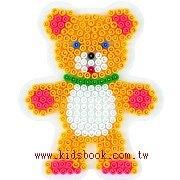 泰迪熊型模板:小拼豆模板