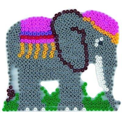 內頁放大:大象造型模板:小拼豆模板