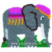大象造型模板:小拼豆模板