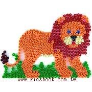 獅子造型模板:小拼豆模板