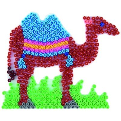 內頁放大:駱駝造型模板:小拼豆模板