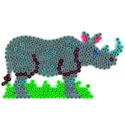 內頁放大:犀牛造型模板:小拼豆模板