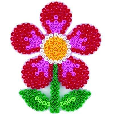 內頁放大:花花造型模板:小拼豆模板