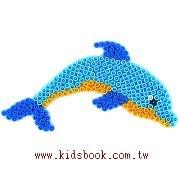 海豚造型模板:小拼豆模板