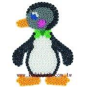 企鵝造型模板:小拼豆模板