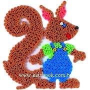 松鼠造型模板:小拼豆模板(B級品特賣)現貨:1