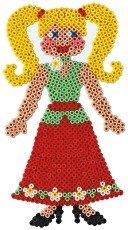 變裝娃娃造型模板:小拼豆模板
