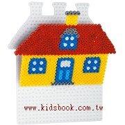 房屋造型模板:小拼豆模板