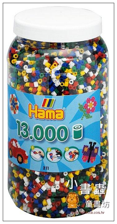 內頁放大:小拼豆補充桶:13000顆(6色)
