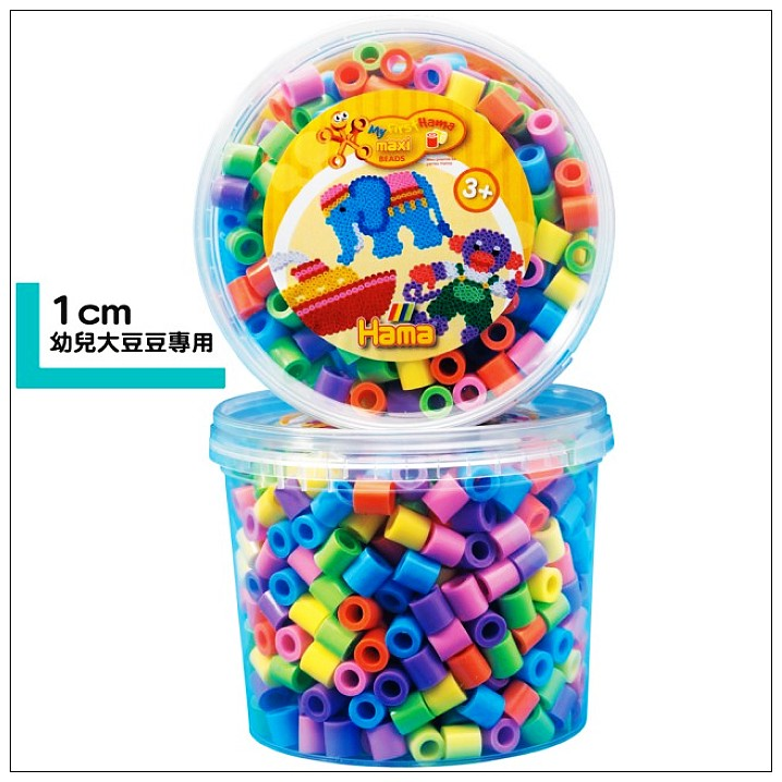 內頁放大:大拼豆補充罐600顆(粉色)