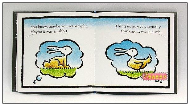 內頁放大:Duck! Rabbit!