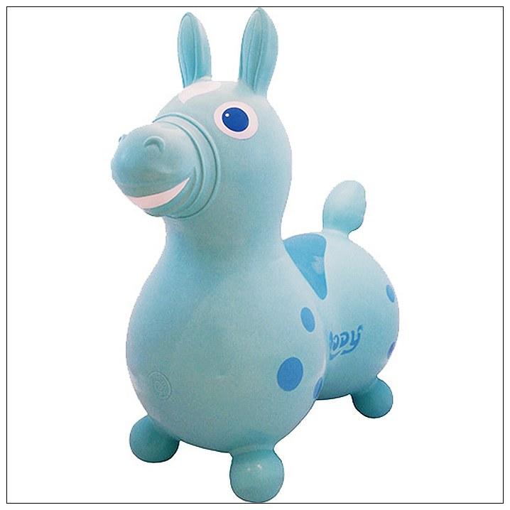 內頁放大:義大利 Rody 跳跳馬─粉藍 (日本限定款)+打氣筒(79折)