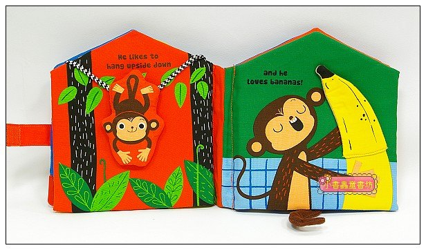 內頁放大:布書:MY PET MONKEY 我的猴子(英文版)