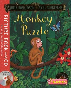 快樂讀唱繪本:Monkey Puzzle (小猴子找媽媽)平裝書+CD