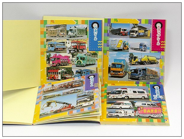 內頁放大:日本貼紙本:交通工具(各式車輛)現貨數量:1(出清特價)