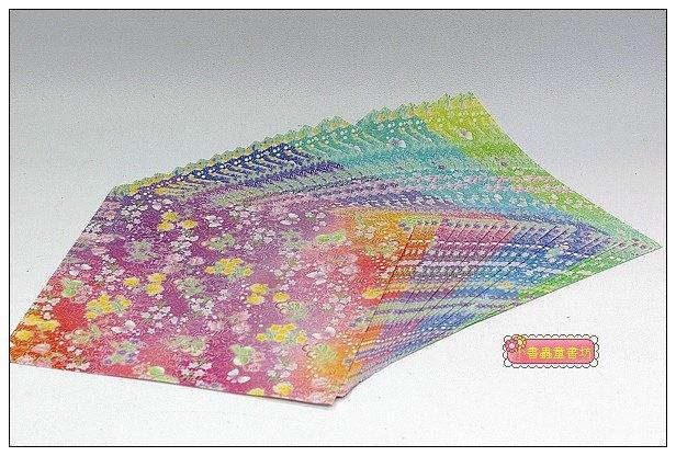 內頁放大:日本色紙:千代紙(花朵)