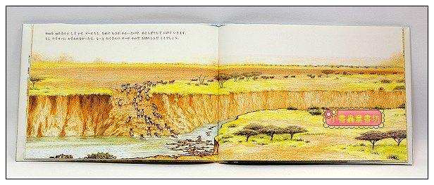 內頁放大:*非洲動物繪本(草原系列2):彎曲的河流(日文) (附中文翻譯)(現貨:1)絕版書