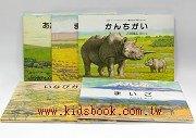 *非洲動物繪本:草原系列 4合1(日文版,附中文翻譯)