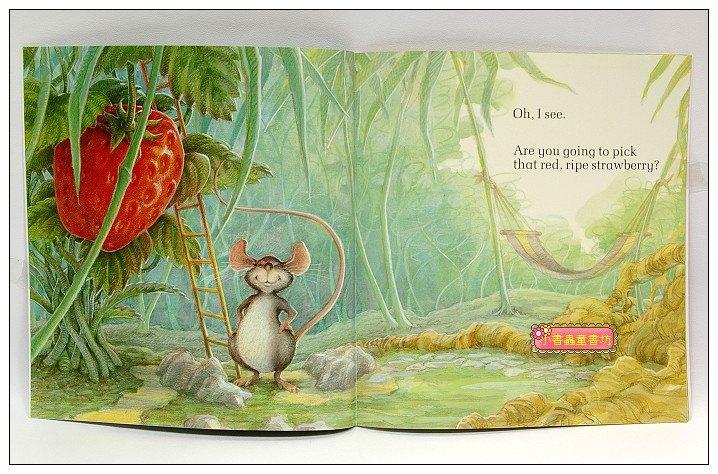 內頁放大:THE LITTLE MOUSE, THE RED RIPE STRAWBERRY,AND THE BIG HUNGRY BEAR(平裝書+CD)