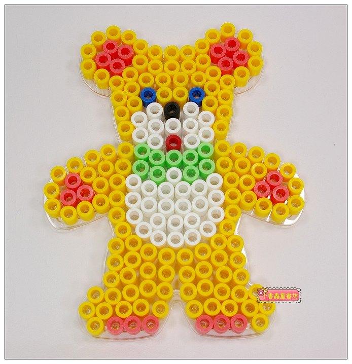 內頁放大:泰迪熊透明模板:大拼豆模板(大拼豆清倉)現貨:2