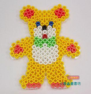 泰迪熊透明模板:大拼豆模板(大拼豆清倉)現貨:2