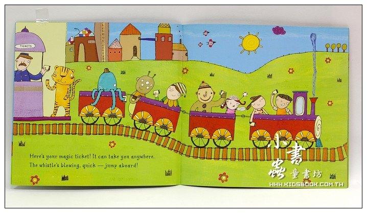 內頁放大:快樂讀唱繪本:Magic Train Ride (平裝書+CD)