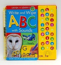 音效書: WRITE AND WIPE ABC WITH SOUNDS: LISTEN TO LEARN