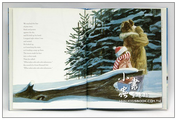 內頁放大:OWL MOON(月下看貓頭鷹)