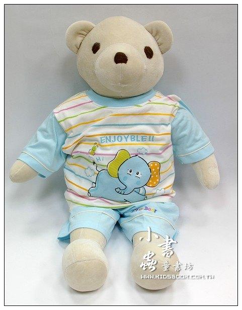 內頁放大:手工綿柔學習大布偶:可愛大大熊(米色)(台灣製造)