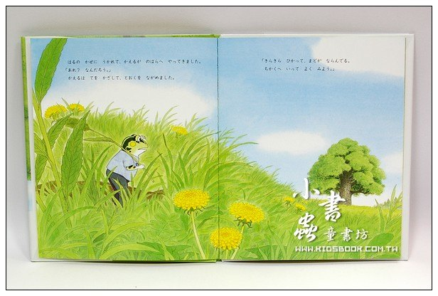 內頁放大:青蛙的新家:樟樹大樓2(日文版,附中文翻譯) <親近植物繪本>