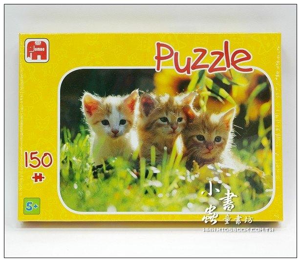 內頁放大:150pcs拼圖:三隻小花貓
