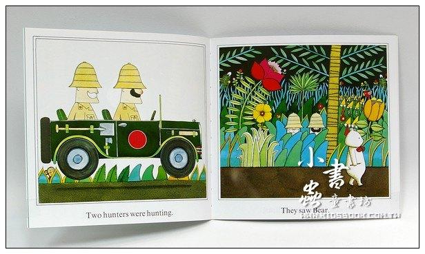 內頁放大:安東尼.布朗繪本:Bear hunt(野蠻遊戲)(平裝書+CD)