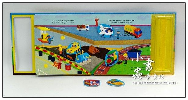 內頁放大:小寶寶黏貼遊戲書:交通工具 Match-and-Muddle Terrific Transport