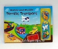 小寶寶黏貼遊戲書:交通工具 Match-and-Muddle Terrific Transport