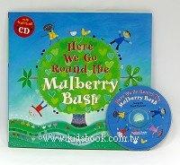 快樂讀唱繪本:Here We Go Round the Mulberry Bush (平裝書+CD)