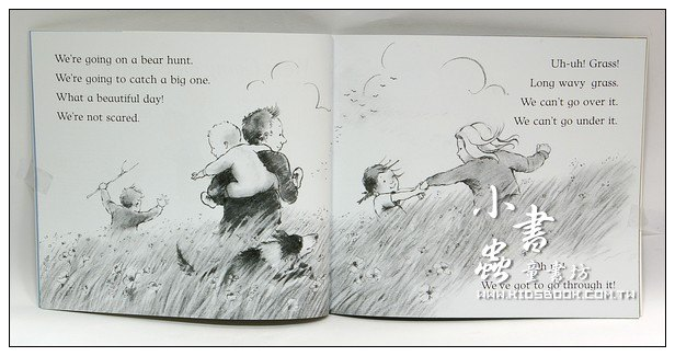 內頁放大:We,re Going On A Bear Hunt (我們要去捉狗熊)(平裝書+CD)