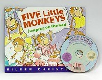 FIVE LITTLE MONKEYS JUMPING ON THE BED(平裝書+CD)