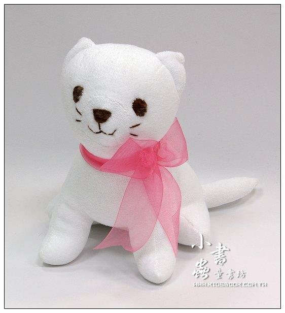 內頁放大:手工綿柔音樂布偶:咪咪貓 (台灣製造)