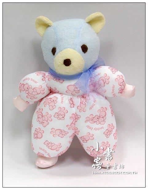 內頁放大:手工綿柔音樂布偶:可愛小熊 (台灣製造)