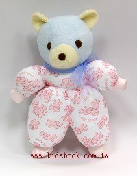 手工綿柔安撫布偶:可愛小熊 (台灣製造)