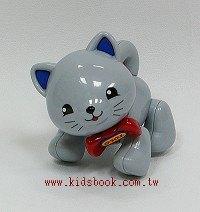 小貓咪(灰):TOLO動物公仔